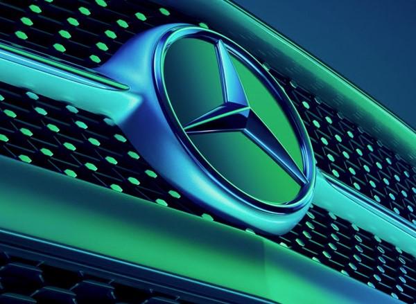 Mercedes-Benz Sverige bild på emblem i grillen
