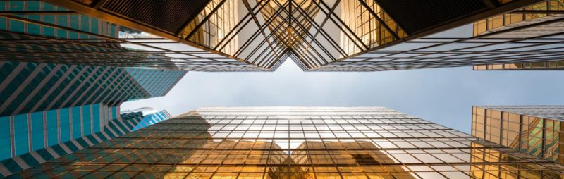 skyskrapor sett nerifrån