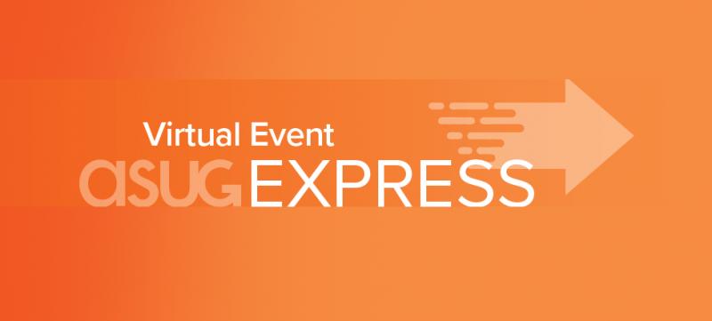 event-logo Asug Express på orange bakgrund
