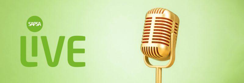 retro mikrofon på ljusgrön bakgrund